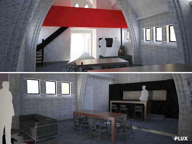 r habilitation d 39 une chapelle en loft architecte lille plux. Black Bedroom Furniture Sets. Home Design Ideas