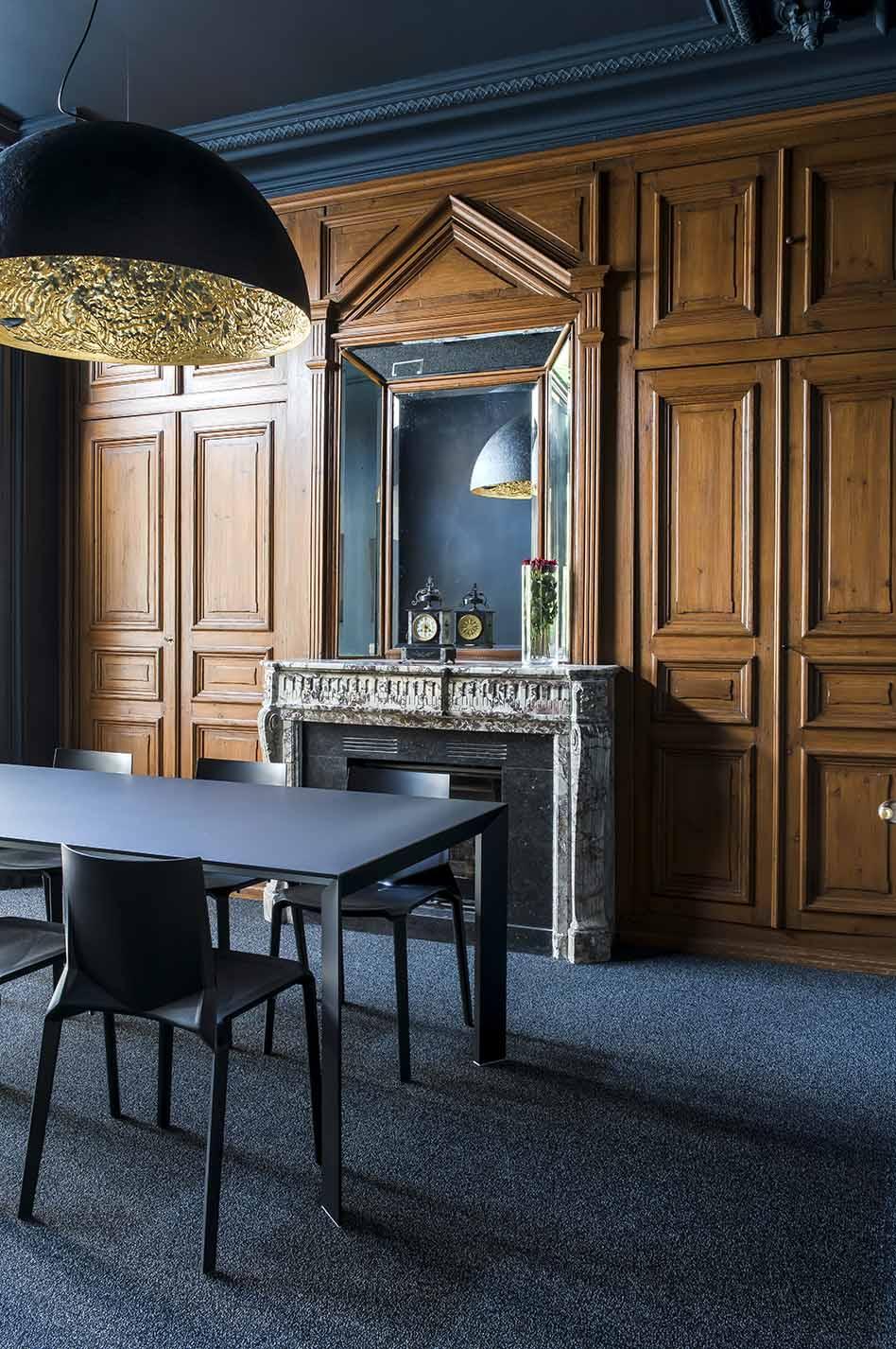architecte Lille PLUX rénovation et restructuration d'une demeure de caractère maison de maitre moulures parquet cheminée professionnel notaire étude notariale