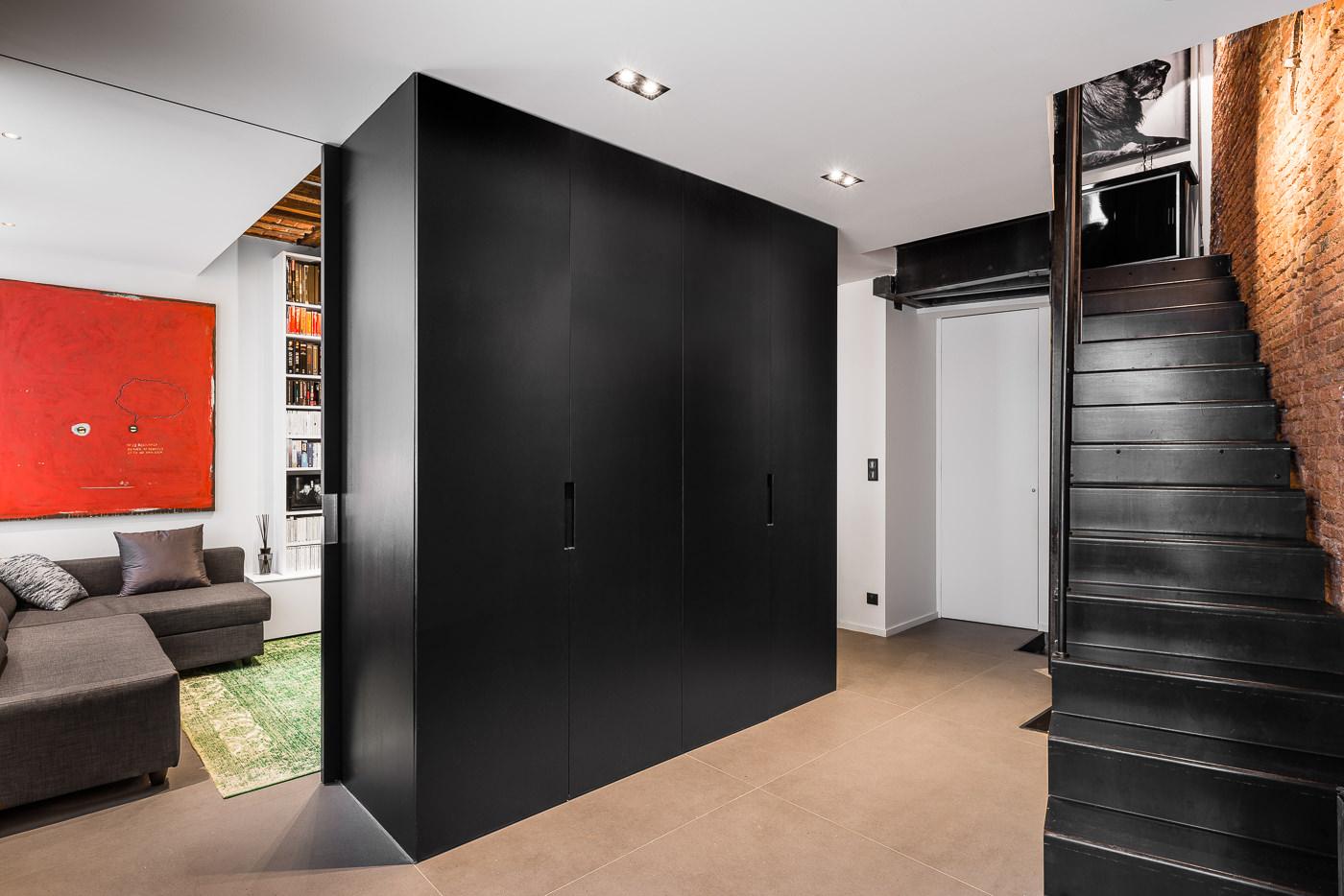 r novation et restructuration compl te d 39 une maison dans le vieux lille architecte lille plux. Black Bedroom Furniture Sets. Home Design Ideas