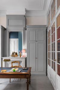 architecte Lille PLUX rénovation et restructuration d'une demeure de caractère maison de maitre cheminée moulure parquet carreaux ciment décoration intérieur (1)